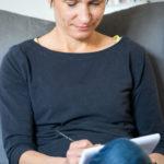 Ideen finden und erstmal handschriftlich festhalten für die Seite Aktuelles von Inga Symann