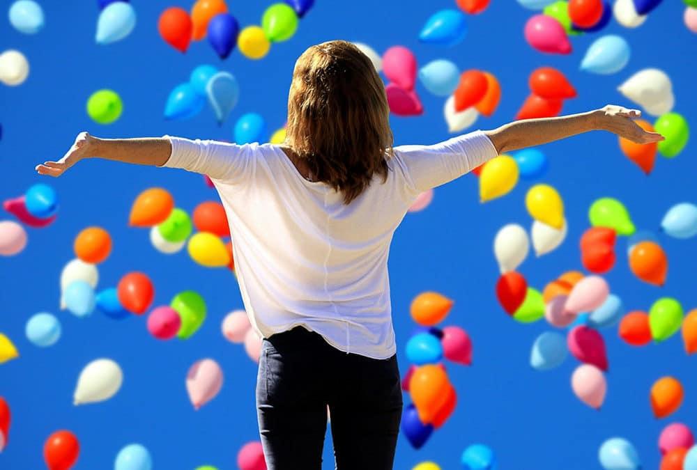 Mit mehr Motivation ist die Welt auch mal voller Luftballons.