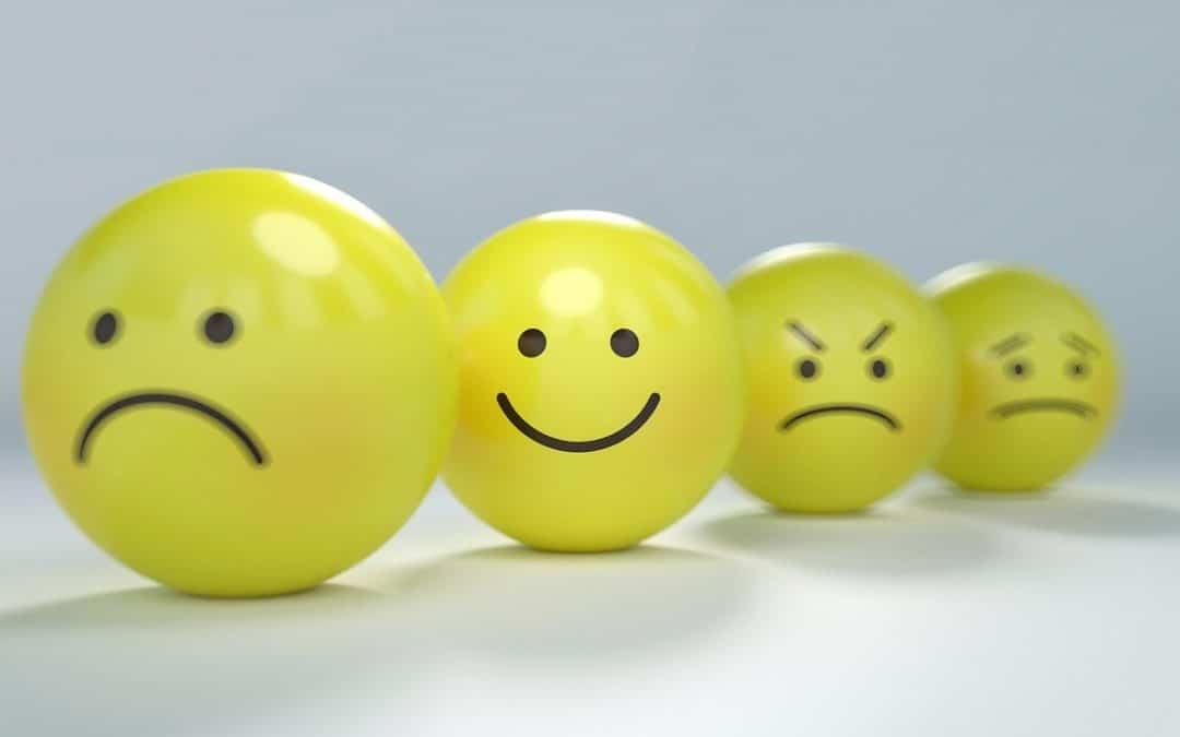 Auch bei Existenzangst positiv bleiben, wie die Smileys zeigen.